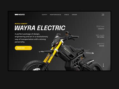 Wayra electric motobike logo sport web webdesign ui ui design design