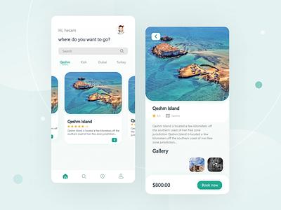 Travel App - Qeshm Island ui