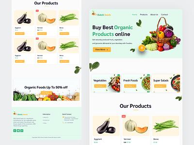 Dutch Seeds - Website Foodstuffs ui