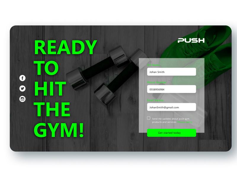 Gym landing page type logo typography website web minimal ux ui flat design