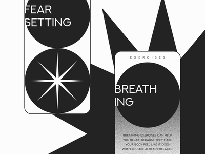 Meditation App Design Concept typography design black and white meditation creative graphic design concept minimalism minimal gradient app design mobile app app mobile ui ux