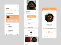 Music App - Light Mode