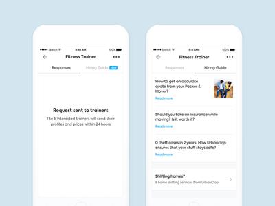 Hiring Guides on UrbanClap App