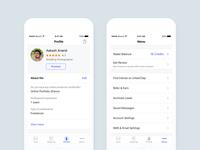 UrbanClap Partner Profile and Menu