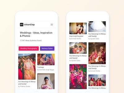 Wedding Ideas and Inspiration (on Mobile Web)