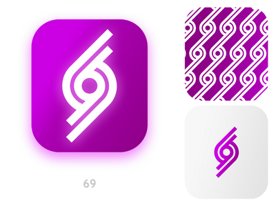 Logo of 69 lettermark conceptlogo design identity graphic designer concept branding logotype logodesign app logos monogram ui icon mark brand typography logo