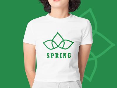Spring Concept ui inspiration design green color graphic design spring concept monogram brand identity logo brand identity brand logo branding logos app icon icon logo designer minimal