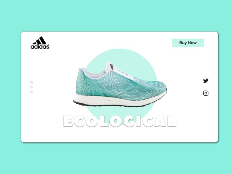 Shoe Design website art webdesign adidas ecological shop ecommerce web ux ui typography creative design minimal