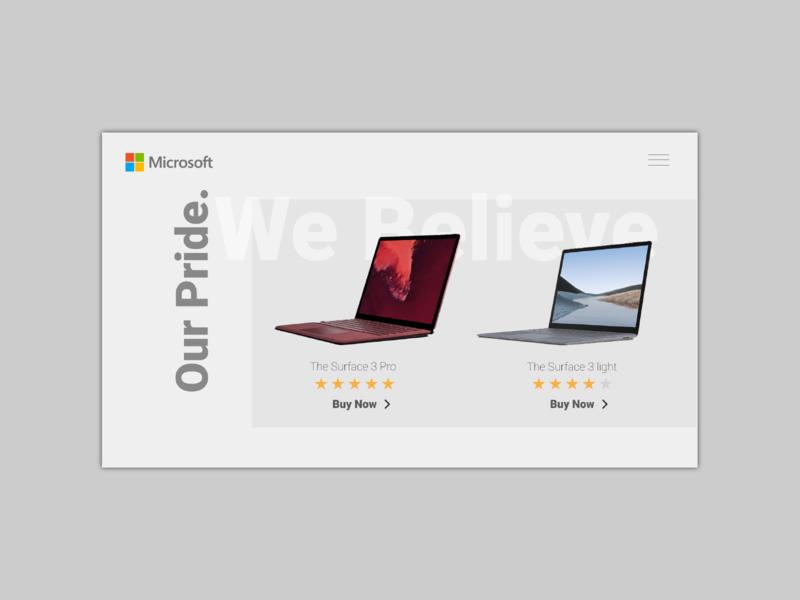 Laptop Design Concept microsoft web website webdesign typography computer laptop technology tech ux ui minimal design