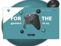 Xbox Controller Landing Page 3d website web design webdesign controller xbox technology illustration web ux ui minimal