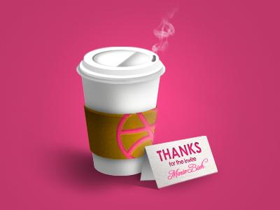 Thanks Mario! invite debut coffee thanks