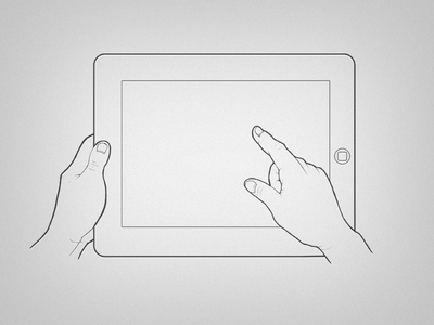 Hands and iPad Drawing