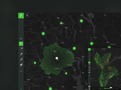 Data Lake for Energy & Utilities 🔋 desktop design data oslo localization figma animation green dashboard ux ui map smart cities smart grid utilities energy data monitoring data lake digital transformation