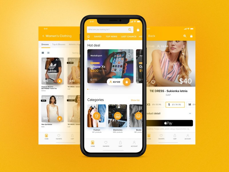 S-Commerce - Mobile App minimal shopapp app mobile s-commerce e-commerce onlineshopping shop design discount shoes clothes shopping commerce stepwise