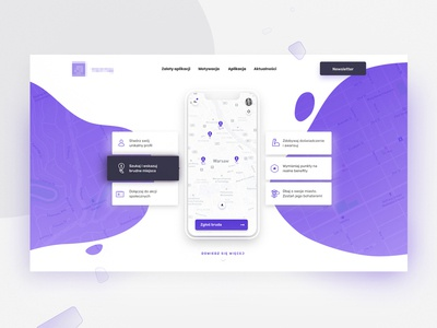 Trash Tag Landing Page Design designapp app stepwise purple ux ui landingpage mobileapp webgame mockup trash trashtag bagde figma white minimal