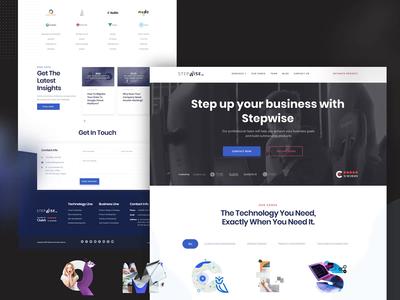 Stepwise.pl - Landing Page website web logo branding vector design videoslider slider minimal uxdesign uidesign ui ux stepwise landingpage