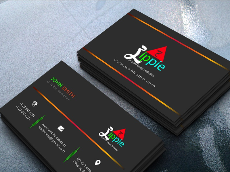 Professional Business Card Design vector design visiting card typography illustration business card template branding business card mockup business card design black business card