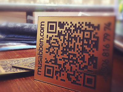 Business Card business card qr cutting laser code musabben musab qr code business card