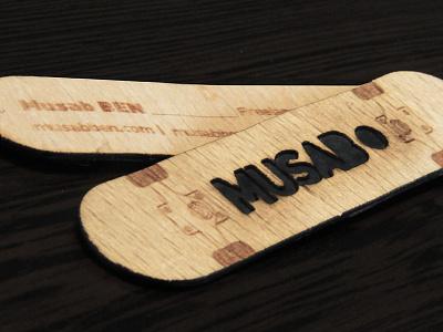 Musab BEN Business Card Skateboard skateboarding skate musabben musab business card wood board business card