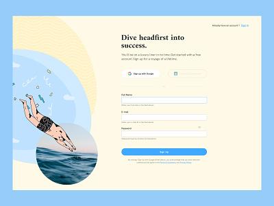 Sign Up Page ux design ui