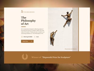 Museum Event - Landing page museum event minimalism landing page typography ux ui