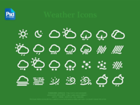 Weather icons hd