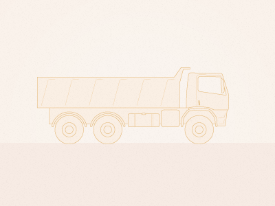 Truck transport iconography vector line technical drawing truck