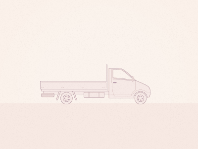 Van truck technical drawing line vector iconography transport van