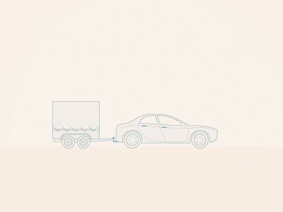 Car with trailer truck technical drawing line vector iconography transport car trailer