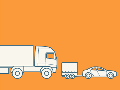 Transport truck technical drawing line vector iconography transport car trailer