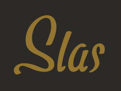 Slas Logo typography lettering script logo custom type cursive wordmark