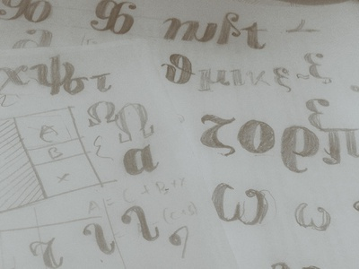 """""""Like something out of Poster Bodoni"""" typography letter lettering doodle drawings bodoni type design sketch greek alphabet"""