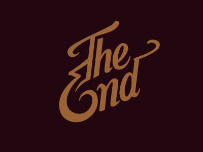 The End typography script lettering hand-drawn doodle
