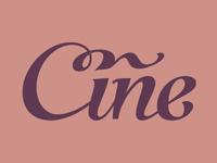 Cine cursive type ligature calligraphy script lettering typography