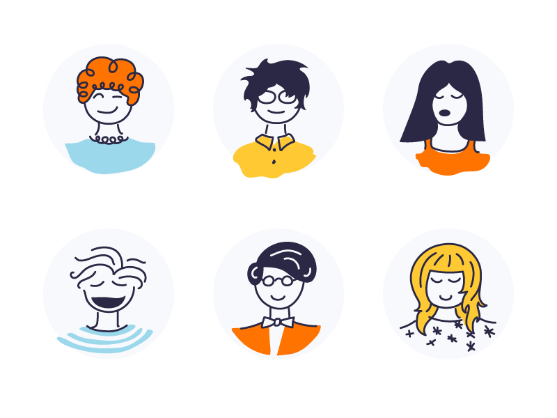 Avatars user human illustration characters avatars