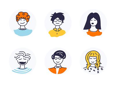 Avatars user human illustration characters avatars