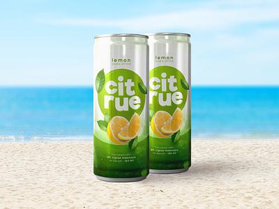 Citrue Lemon - Branding carbonated beverages lemon packaging graphic branding design
