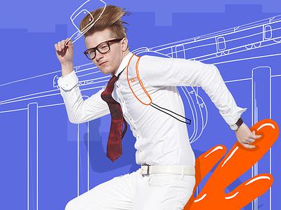 Cool skater retouching editing art brand spectacles eyeglasses glasses eyewear style fashion doodle illustration