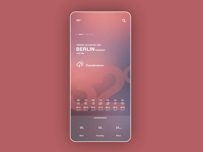 Weather app prototyp animation weather forecast weather app weather ux ui thunderstorm thunder sun snow rain mobile invision studio after effects interfacedesign barcelona ottawa berlin app