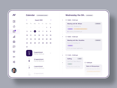 Dashboard User Interface flatdesign minimal after effects user interface user experience design storage email inbox chat calendar dashboad figma animation app ux ui