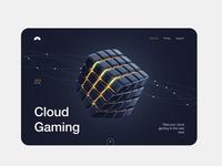 Cloud Gaming service ui minimal gaming 3d web saas landing page illustration app ui design