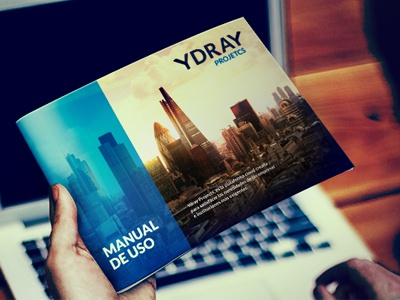 Ydray Projects editorial design cover dossier print brochure