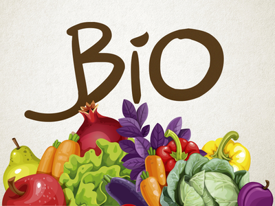 Bio vegetables fruit natural eco branding agro agriculture bio