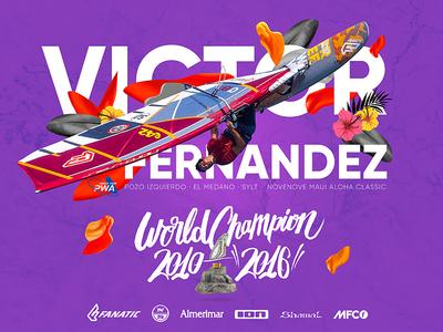 Victor Fernandez - World Champion Waves 2016 windsurfing pwa poster surf waves windsurf