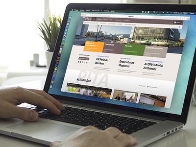 PITA Technology Park almeria website ux ui kit ui web pitagoras pita