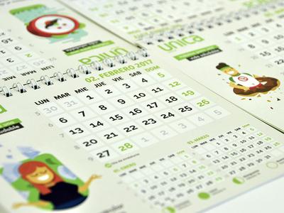 Illustration Branding Calendar flat card calendar illustration branding