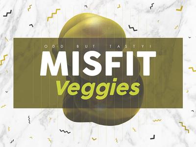 Mitfit veggies — Odd but tasty! luxury gold branding tasty vegetables veggies ugly mitfit