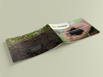 Organic nutrition brochure design editorial cover dossier brochure agro