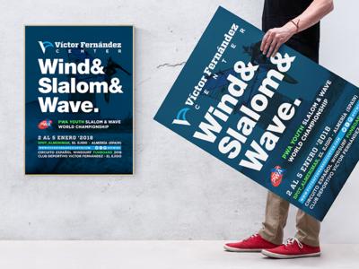 Poster Wind&Slalom&Wave. pwa cartel poster surf wind windsurf