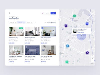 Real Estate Searching Tool dailyui interior realestate prices location hotel room sell buy filter search website house map apartament ux ui app web